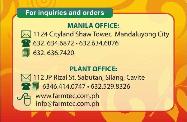 PLANT ADDRESS: 112 JP RIZAL ST., SABUTAN, SILANG, CAVITE <br/>